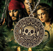Classic Pirates Of The Caribbean Skull Pendant Necklace Pendant Retro CopperCoin