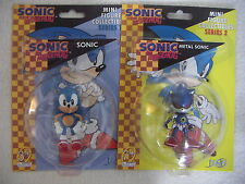 Sonic The Hedgehog Sonic Y Metal Sonic 2 Mini Figura Coleccionables F4f 2.5 ""
