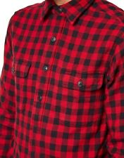 Ralph Lauren Long Sleeve Buffalo Checked Jacquard Pullover Work Shirt Red - 2XL