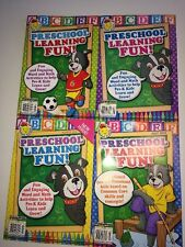 Lot of 4 PRESCHOOL LEARNING FUN Activity Workbooks HARD TO FIND Sunshine School