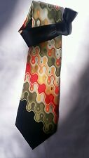 Stacy Adams Men's Silk Neck Tie Black Red Green  Gray Beige Art Deco Necktie
