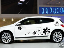 Car Flowers Door Decals for Scirocco Vinyl  Side stickers #1013