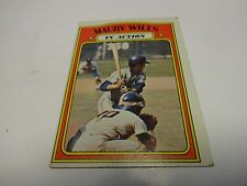 1972 Topps Maury Wills In Action Card # 438 Los Angeles Dodgers