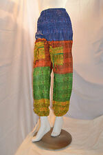 Om Print High Crotch Cotton Harem Trousers Multi Colour Indian Summer Hippy