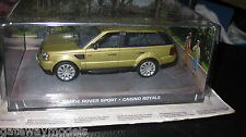 JAMES BOND 007 MOVIE CARS 1/43  RANGE ROVER SPORT  GOLD CASINO ROYALE