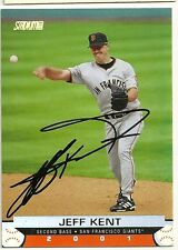 2000 Topps Club JEFF KENT Signed Card GIANTS ASTROS autograph HOF auto PROOF