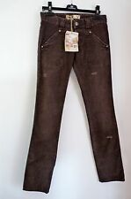 ROXY 'ROCK SCHOOL' DARK BROWN DISTRESSED CORDS   S    £70    BNWT