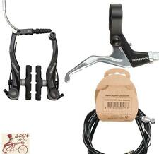 SHIMANO T4000 ALIVIO-TEKTRO 319A-CABLE LINEAR V-BRAKE BLACK REAR BIKE BRAKE KIT