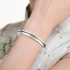 Stainless Steel Cuff Bangle Hair Tie Bracelet for Women Band Elegant Indent GG