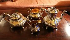 Gorgeous George IV Old Sheffield Cold Fusion Plate Tea and Coffee Service c.1828