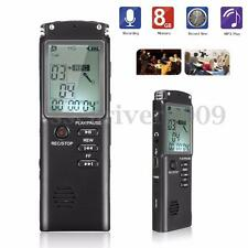 8GB 8G Rechargeable LCD Digital Audio Sound Voice Recorder Dictaphone MIC MP3