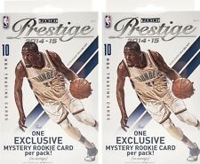 (2) 2014-15 Panini Prestige Basketball NBA Trading Cards 10ct. Hanger Box LOT