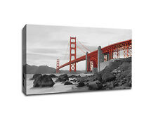 "Golden Gate Bridge, San Francisco, CA - 20"" x 30"" Gallery Wrapped Canvas Art"