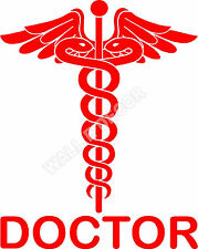 Reflective Red Doctor logo Decal / Sticker for Car ..