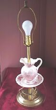 VINTAGE CERAMIC PITCHER AND BOWL TABLE LAMP