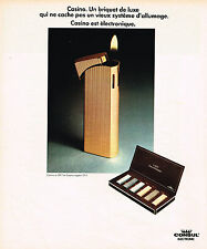 PUBLICITE ADVERTISING 104  1973  CONSUL   collection briquet