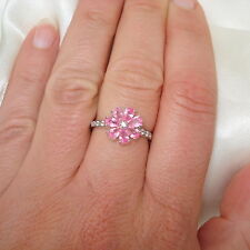 "1.768ct Pink Sapphire ""Floral"" Design White Gold Ring"