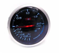 60mm Turbo boost gauge -1 a 2 bar AUDI TT A3 S3 A4 A6 VW GOLF PASSAT