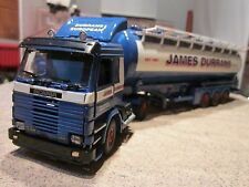 Tekno J Durrans Scania 113m with tri-axle tipping tanker trailer  Heavy haulage