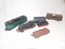 lot trains HO PIKO Locomotive vapeur + Meccano BB8154 + wagon JEP + Divers  (MR)