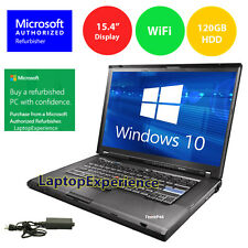 "IBM LENOVO LAPTOP THINKPAD 15.4"" WINDOWS 10 CORE 2 DUO CDRW DVD WiFi NOTEBOOK HD"