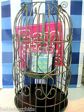 Bath Body Works XL Vintage Metal BIRDCAGE 3 Wick 14.5 oz Candle Holder 2015 NIB