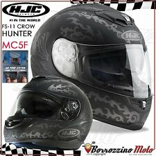 CASCO MOTO INTEGRALE HJC FS-11 AIR PUMP CROW HUNTER NERO OPACO TG. XL 61-62 cm