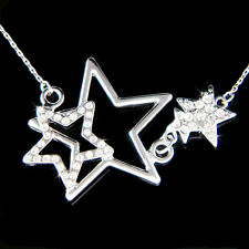 w Swarovski Crystal WISH Wishing Sparkling STAR Mother Child Family Necklace New
