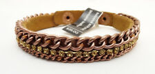 New Genuine Leather Bracelet with Rhinestones by Banana Republic #BRB11