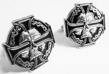 CELTIC IRON CROSS SKULL German Biker Harley Sniper Cufflinks Cuff Links