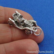 Silver CLASSIC ANTIQUE CAR Auto Old Fashioned CHARM PENDANT
