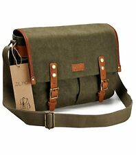 Waterproof Vintage Canvas Camera Bag Messenger Bag for DSLR Camera and Lens (Arm