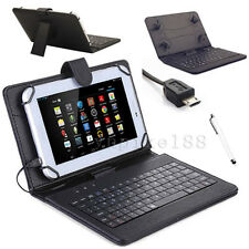 "New For 2015 Amazon Kindle Fire 7"" 5th Gen Micro USB Keyboard Leather Case Cover"