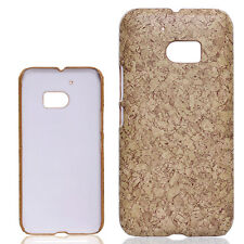 HOT marble printed wood chips vintage slim Case Cover skin For HTC 10 One M10