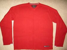 Abercrombie and fitch Mens Red Long Sleeve Warm Pullover Sweater Size Extra Larg