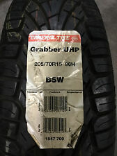 2 New 205 70 15 General Grabber UHP Tires