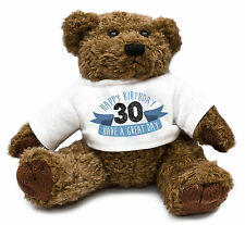 30th Birthday Teddy Bear Gift Idea Present Special Son Mens Cute Family #31