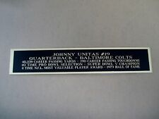 Johnny Unitas Colts Nameplate For A Football Jersey Display Case 1.25 X 6