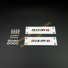 Pair NISMO Aluminum Alloy Car Floor Mat Carpet logo badge emblem for NISMO GTR