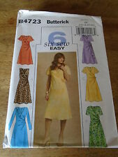 "PATRON ""BUTTERICK 6 VERSIONS ROBES DRAPEES   TAILLE  36 A 42  N°4723 (BB)"