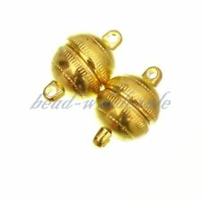 3 Sets Round Magnetic Clasps Silver Plated/Gold Plated 8mm Gold
