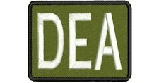 """DEA"" embroidery patch 3x4 hook on back"