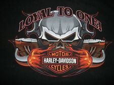 "VTG HARLEY DAVIDSON T-SHIRT. SIZE L "" LOYAL TO ONE!"" DATED c) 2005 H-D""  F/SHIP"