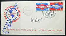 Fifty Years Radio Service Netherlands Cover FDC Curacao Ersttagsbrief (H-10143