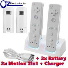 Remote Controller Wiimote Nunchuck Set for Nintendo Wii 9 in 1 Offer Motion 2in1