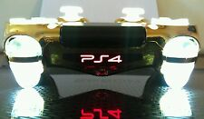 Sony PS4 Dualshock 4 Custom Wireless Controller/Gamepad-Gold Chrome w/ White LED