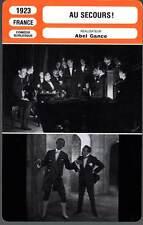 AU SECOURS ! - Max Linder,Abel Gance (Fiche Cinéma) 1923 - Help !