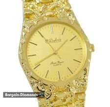 ladies Lucien Piccard Gold nugget style fashion Red Carpet Watch bracelet unisex