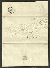 Regno 1862 - Lettera da Montecatini Val di Cecina a Volterra - Firmata - REG001