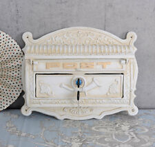 WALL LETTER BOX CAST IRON SHABBY CHIC WALL LETTER BOX VINTAGE
